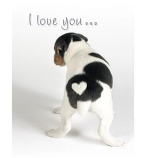 RO/Dog white heart on rear