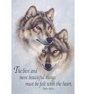 MAGNET/Two wolves heads