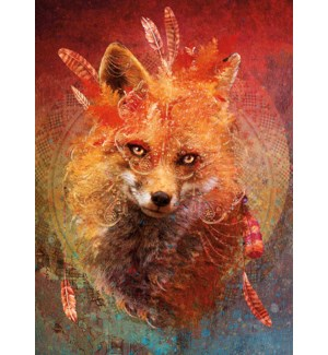 MAGNET/Fox wearing feathers