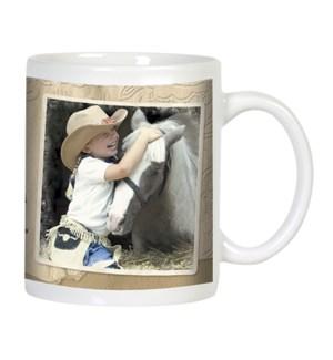 MUG/Young cowgirl hugging
