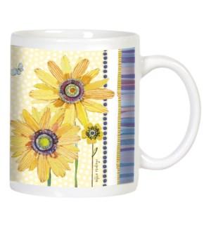 MUG/Sunflowers, butterflies