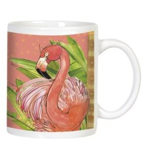 MUG/Flamingos andgrey pigeons