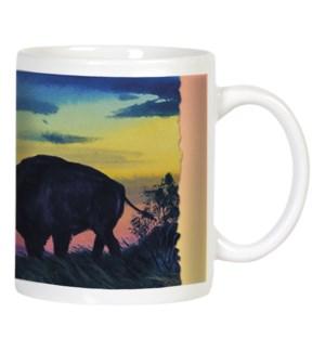 MUG/Silouette of buffalo