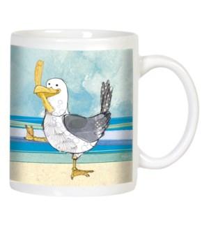 MUG/Seagull with fry on blue