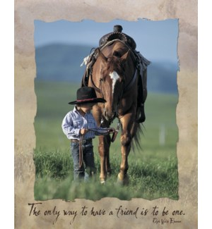 POSTER/Cowboy leading horse