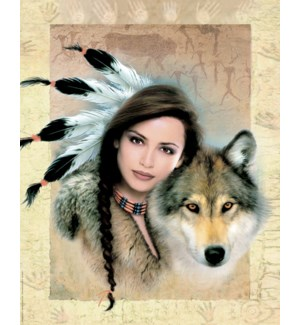 POSTER/Woman with wolf
