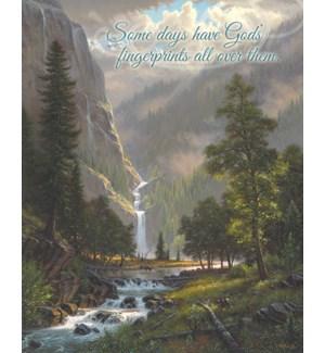 POSTER/Waterfall mnts & elk