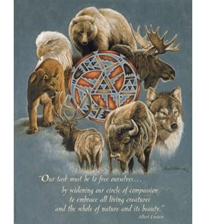 POSTER/Elk buffalo symbol