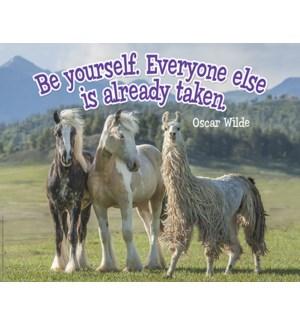 POSTER/Pair of horses & llama