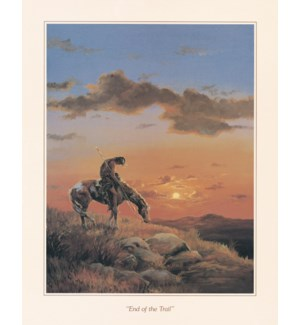 POSTER/Horseback at sunset