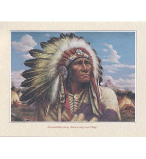 POSTER/Chief wearing headress