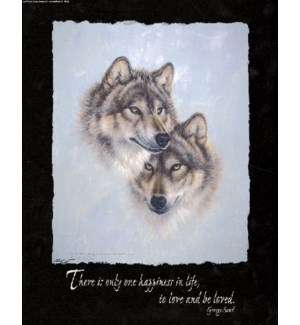 POSTER/Pair of wolf heads
