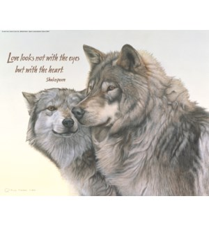 POSTER/Two grey wolves