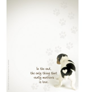 SMNOTEPAD/Dog with heart