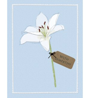 SY/White lily with tag