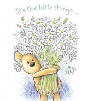 TY/Teddy Bear holding daisies