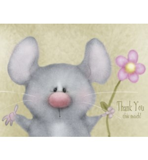 TY/Mouse holding pink daisy