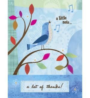TY/Blue bird chirping
