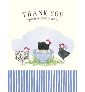 TY/Three hens with eggs