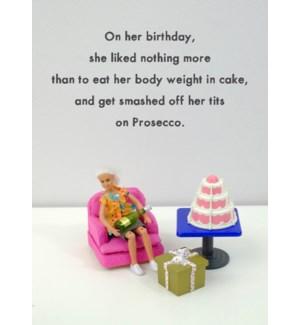 BD/Prosecco Cake