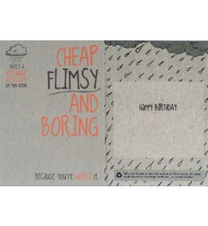 BD/Cheap Flimsy & Boring