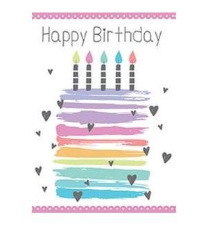 MINIGEMS/BD Cake W/Candles