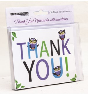 BOXCARDS/CUTE OWLS THANK YOU