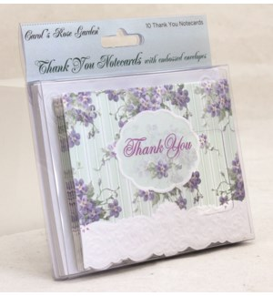 TYCARDS/Lilacs & Teal Stripe