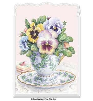 TH/Tea Cup With Pansies