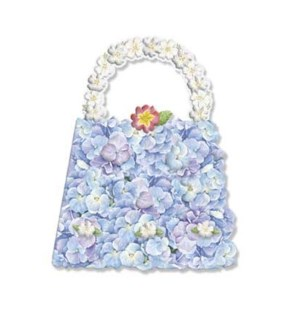 BL/Flower Purse