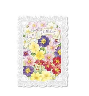BD/White Frame With Pansies