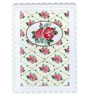 BD/Vintage Rose White Frame