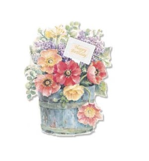 BD/Emb- Floral Barrel Birthday