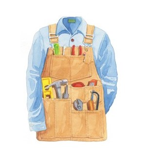 BL/Men's Tool Apron