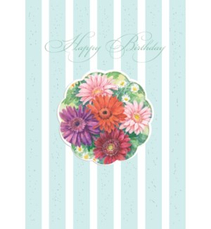BD/Birthday Flower Cut-Out