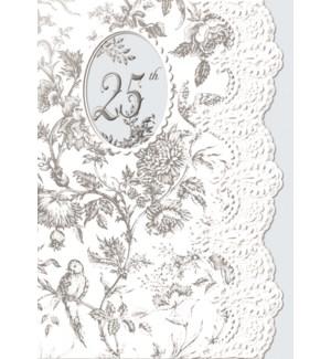 AN/Silver Floral 25th