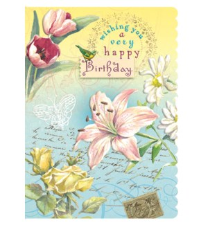 BD/Embossed Flowers