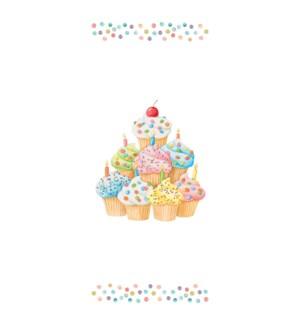 TOWEL/Happy Birthday Cupcakes
