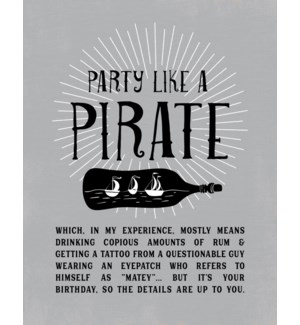 BD/Party Like A Pirate