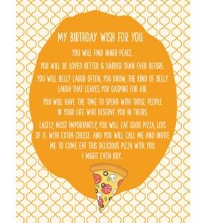 BD/Birthday Pizza Wishes