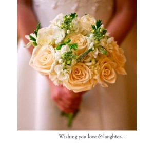 WD/Bride Holding White Bouquet