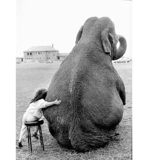BL/Girl Hugging Elephant