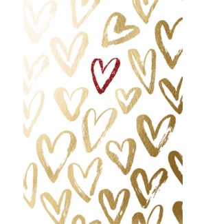 AN/Gold & Red Foil Hearts