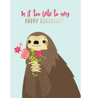 BBD/Sloth Holding Flowers
