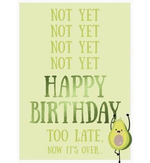 BBD/Not Yet Happy Birthday Avo