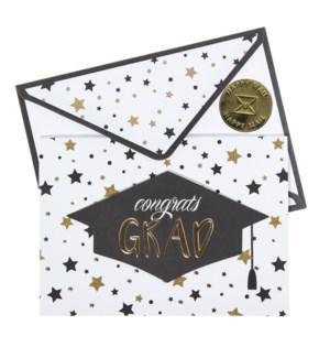 GR/Stars and Dots Grad Cap