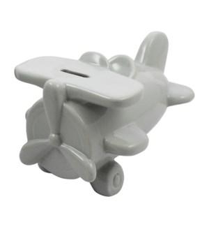 BANK/Light Grey Airplane