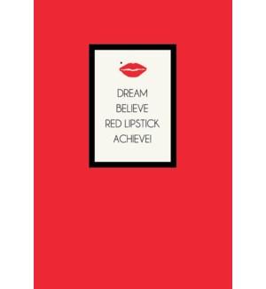 EDB/Red Lipstick, Achieve