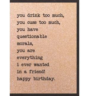 EDB/You Drink Too Much...