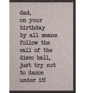 RBDB/Dad Follow the Disco Ball